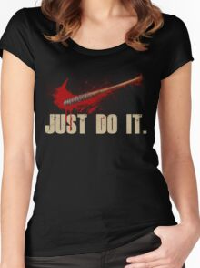 The Walking Dead - Just Do It  Women's Fitted Scoop T-Shirt