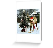 Snowdrop & Rudolph Greeting Card