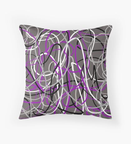 Asexual Ace Flag Inspired Design Throw Pillow