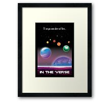 See You in the 'Verse - SciFi Poster Framed Print