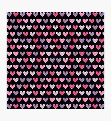 Colorful hearts VI Photographic Print