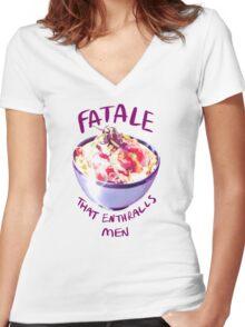 Fatale Katsudon Women's Fitted V-Neck T-Shirt