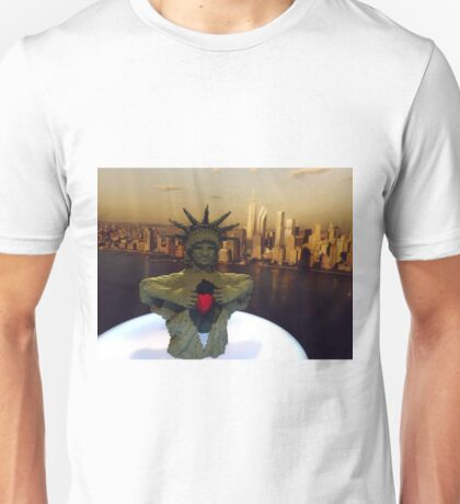 Lego Statue of Liberty, Art of the Brick Exhibition, Discovery Times Square, New York City, Nathan Sawaya, Artist T-Shirt