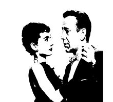 Audrey Hepburn And Humphrey Bogart by Museenglish