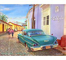 Trinidad, Cuba - 1958 Chevy Biscayne Photographic Print