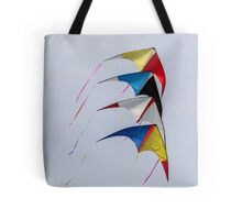 colorful kites flying in the sky Tote Bag