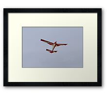 colorful kites airplane  flying in the sky Framed Print