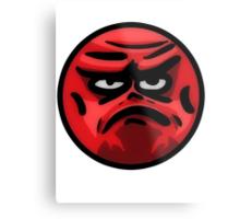 Angry Face Metal Print