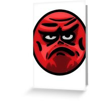 Angry Face Greeting Card
