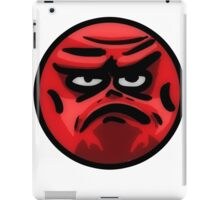 Angry Face iPad Case/Skin