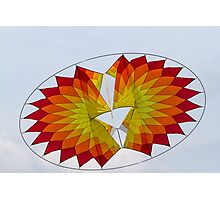 colorful kites flying in the sky Photographic Print