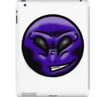 Alien Face (Purple) iPad Case/Skin