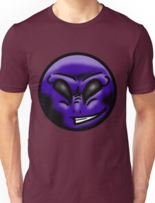 Alien Face (Purple) Unisex T-Shirt