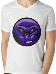 Alien Face (Purple) Mens V-Neck T-Shirt