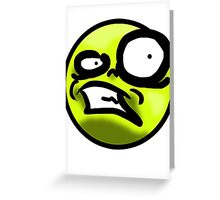 WTF Face (Yellow) Greeting Card