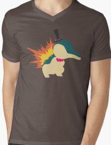 Cyndaquil Minimalist Mens V-Neck T-Shirt