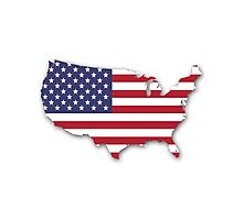 America Map Photographic Print