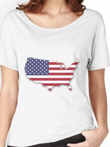 America Map Women's Relaxed Fit T-Shirt