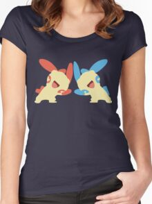 Plusle & Minun Minimalist Women's Fitted Scoop T-Shirt