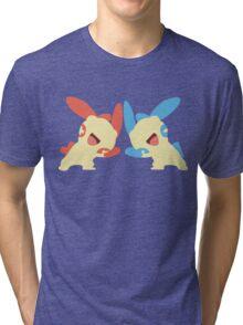 Plusle & Minun Minimalist Tri-blend T-Shirt