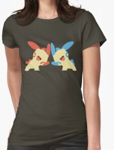 Plusle & Minun Minimalist Womens Fitted T-Shirt