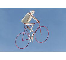 colorful kites bicycle  flying in the sky Photographic Print