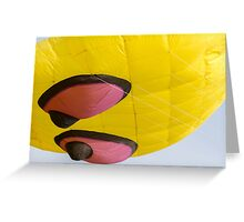 colorful kites octopus flying in the sky Greeting Card