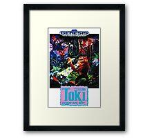 Toki: Going Ape Spit - SEGA Genesis Box Art Framed Print