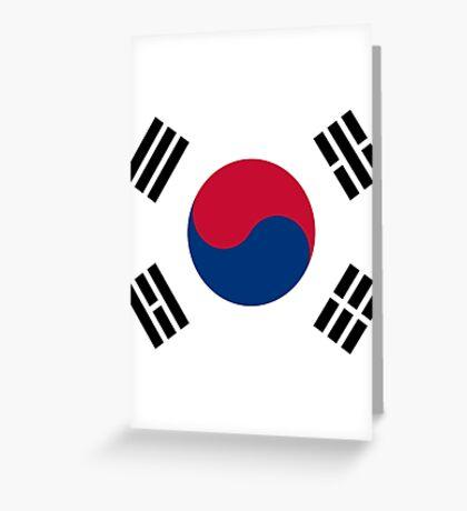 Living Korea Flag Greeting Card