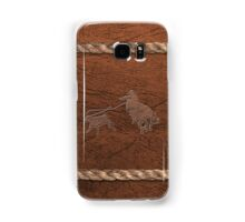 Rodeo Theme - Calf Roping, Leather & Rope Samsung Galaxy Case/Skin