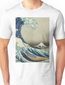 The Classic Japanese Great Wave off Kanagawa by Hokusai Unisex T-Shirt