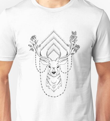 Floral Deer Unisex T-Shirt