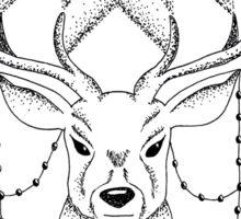 Floral Deer Sticker