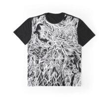 Zen Doodle 2A Black White Glow Graphic T-Shirt