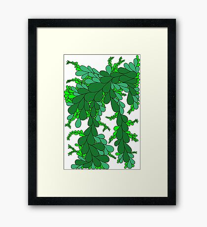 Leaves - green Framed Print