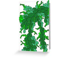 Leaves - green Greeting Card