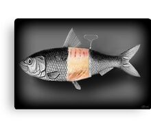 <º))))>< FISH WITH A TWIST PICTURE/CARD <º))))><  Canvas Print