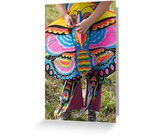 colorful kites flying in the sky Greeting Card