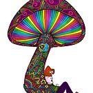 Mushroom & Gnome by Octavio Velazquez