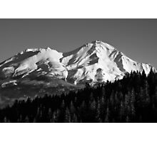 Mount Shasta photograph in Black and White Photographic Print