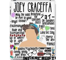 Joey Collage hat iPad Case/Skin