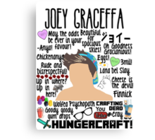 Joey Collage hat Canvas Print