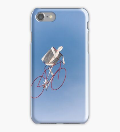 colorful kites bicycle  flying in the sky iPhone Case/Skin