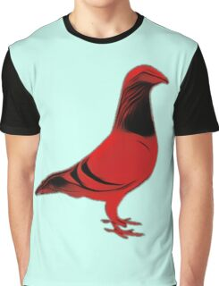 Red Bird of Doom Graphic T-Shirt