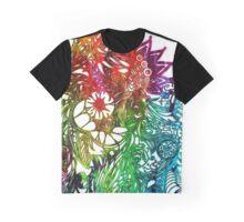 Zen Doodle 3A Rainbow White Graphic T-Shirt