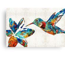 Colorful Hummingbird Art by Sharon Cummings Canvas Print