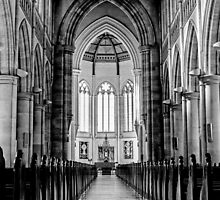 Sacred heart cathedral in Bendigo - B&W by Casey Argall