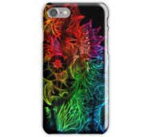 Zen Doodle 3A Rainbow Black iPhone Case/Skin