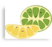 Lemon & Lime Best Friends Canvas Print