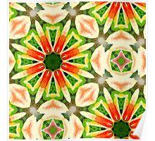Watercolor Tulip Mandala Poster